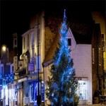 Christmas lights at Tenterden Town