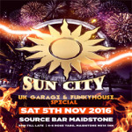 Sun City UK Garage & Funky House Bonfire Special – Saturday 5th November 2016