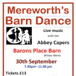 Mereworth's Barn Dance on Saturday 30th September 2017