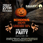 Schools Out Under 18's – Halloween Party on Friday 27th October 2017