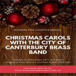 Carols with the City of Canterbury Brass Band – Tuesday 12th December 2017
