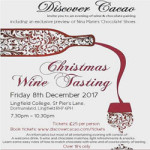 Christmas Wine and Chocolate Pairing at Lingfield College – Friday 8th December 2017