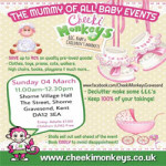 Cheeki Monkeys Gravesend Big Baby and Children's Market at Shorne Village Hall – Sunday 4th March 2018