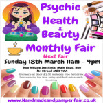 Psychic Health And Beauty Fair – Sunday 18th March 2018