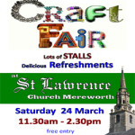 Craft Fair in Unique Mereworth Church on Saturday 24th March 2018