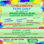 Children's Fun Day in aid of Macmillan at Dartford Science And Technology College – Sunday 24th June 2018