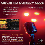 Orchard Comedy Club – The Orchard Theatre on 31st September 2018