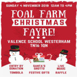 Foal Farm Christmas Fayre at Valence School, Kent – Sunday 4th November 2018