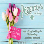 Mothers Day at Peggotty's Tea Shoppe – Sunday 31st March 2019
