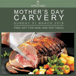 Mother's Day Sunday Carvery at The Appleyard – Sunday 31st March 2019